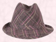 Check Trilby from Accessorize. Pink plaid upturn brim trilby �20 �14.90